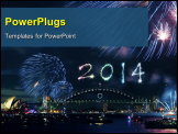 PowerPoint Template - New year fireworks