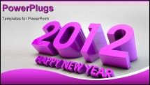 PowerPoint Template - 3d render of 2012 upcoming year greetings