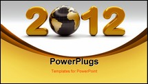 PowerPoint Template - 3d new year 2012