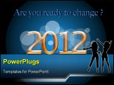 PowerPoint Template - illustration of new year is coming to start