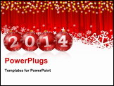 PowerPoint Template - 2011 new year illustration with Christmas balls