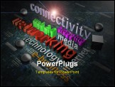 PowerPoint Template - Illustration on New Media - Background - 3D