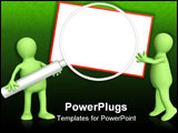 PowerPoint Template - New message - 3d puppets with information board