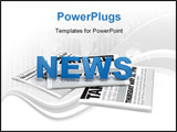 PowerPoint Template - 3d text news on newspaper digital artwork