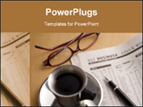 PowerPoint Template - Black Coffee Newspaper