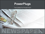 PowerPoint Template - Glasses placed over the newspaper