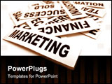 PowerPoint Template - Close up of business new headline tag