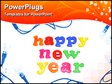 PowerPoint Template - happy new year and lights