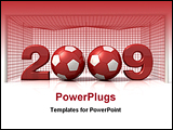 PowerPoint Template - happy new year from soccer