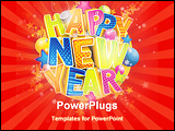 PowerPoint Template - Happy New Year in English language