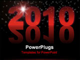 PowerPoint Template - happy new year, marry christmas, beautiful background