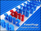 PowerPoint Template - Illustration of numbers of new 2011 on a white background