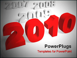 PowerPoint Template - New year 2010. 3d render. Very High resolution