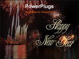 PowerPoint Template - fireworks at night