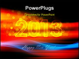 PowerPoint Template - New Year 2013 concept