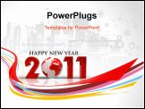 PowerPoint Template - abstract new year 2011 colorful design. Vector illustration