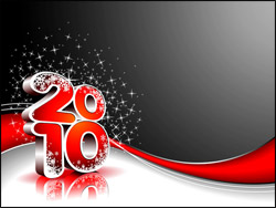 PowerPoint Template - Vector Happy New Year illustration for 2010.