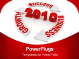 PowerPoint Template - New Year Business Concept computer generated illustration