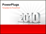 PowerPoint Template - 2010 year calendar and new year gray