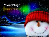 PowerPoint Template - funny snowman winter concept on isolated background