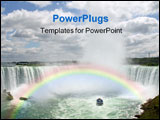 PowerPoint Template - Horseshoe Niagara Falls on the canadian border