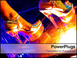 PowerPoint Template - Dancer legs in high heels.