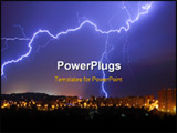 PowerPoint Template - lightning thunderbolt storm in town night sky
