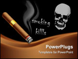 PowerPoint Template - The vector illustration of a smoldering cigar