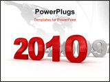 PowerPoint Template - 3d image of 2010. On white background.
