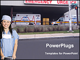 PowerPoint Template - nurse outside of emergency block