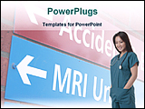 PowerPoint Template - nurse in the way of emergency