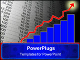 PowerPoint Template - indicate growth with fluctuation and steady increase of numbers