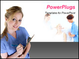 PowerPoint Template - nurse writing in chart