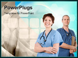 PowerPoint Template - medical team happy on white isolated background