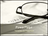 PowerPoint Template - newspaper with glasses