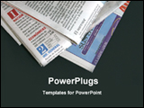 PowerPoint Template - image of newspapers