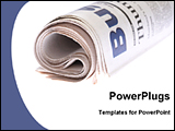 PowerPoint Template - image of rolled newspapers