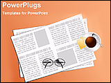 PowerPoint Template - illustrated newspaper on the desk