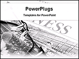 PowerPoint Template - business newspapers with spectacle