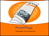 PowerPoint Template - illustrated drawing of a newspaper