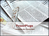 PowerPoint Template - a spectacles on a newspaper