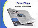 PowerPoint Template - newspaper on a desk