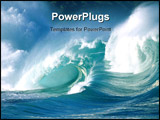 PowerPoint Template - Here is an action shot of ocean waves crashing.