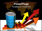 PowerPoint Template - Oil, barrel of oil, 3D generated picture of our main energy