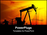 PowerPoint Template - an industrial oil pump under a hot sky