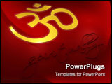 PowerPoint Template - Illustration on the subject of spirituality - Om Symbol - Spiritually letters - 3D
