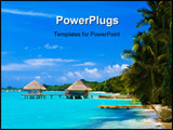 PowerPoint Template - Spa salon on beach of tropical island - healthcare background