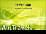 PowerPoint Template - Online travel illustration of electronic booking reservation