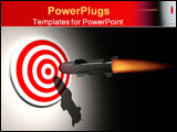 PowerPoint Template - cruise missle ( rocket ) aiming target - rendered in 3d
