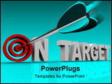PowerPoint Template - An arrow hits a bullseye in the words On Target